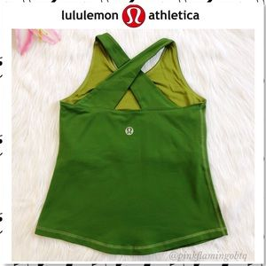 Lululemon Repose Cross Back Bra Yoga Tank Green 6